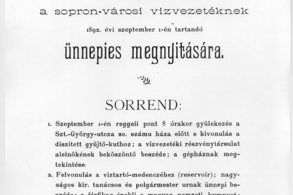 Meghívó megnyitóra 1892.
